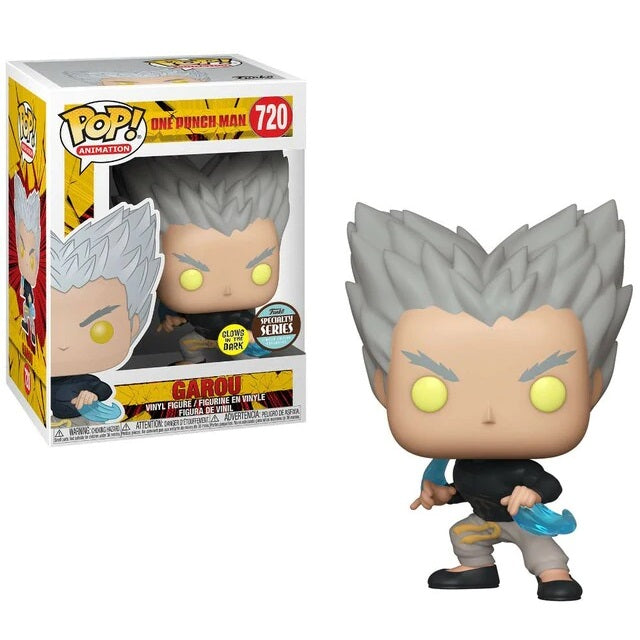 One Punch Man Pop! Vinyl Figure Garou Flowing Water (Specialty Glow) [720] - Fugitive Toys