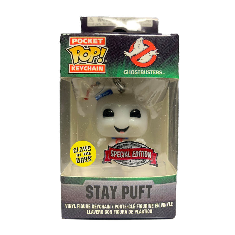 Ghostbusters Pocket Pop! Keychain Stay Puft Marshmallow Man (GITD)
