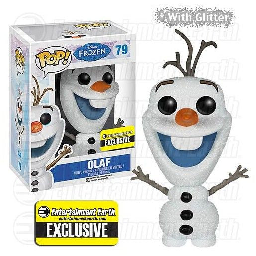 Disney Pop! Vinyl Figure Glitter Olaf [Frozen] Entertainment Earth Exclusive