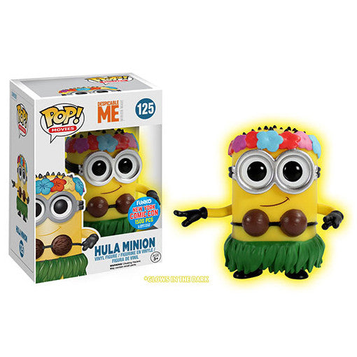 Despicable Me 2 Pop! Vinyl Figure Glow-in-the-Dark Hula Minion [NYCC 2015 Exclusive]
