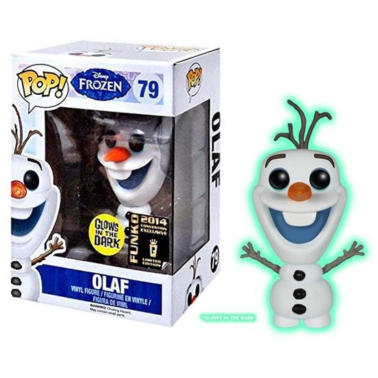 Disney Pop! Vinyl Figure Glow in the Dark Olaf [Frozen] 2014 Conventions Exclusive