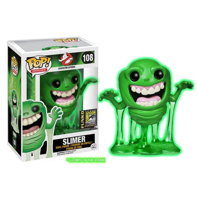 Movies Pop! Vinyl Figure Glow In the Dark Slimer [Ghostbusters] SDCC 2014 Exclusive