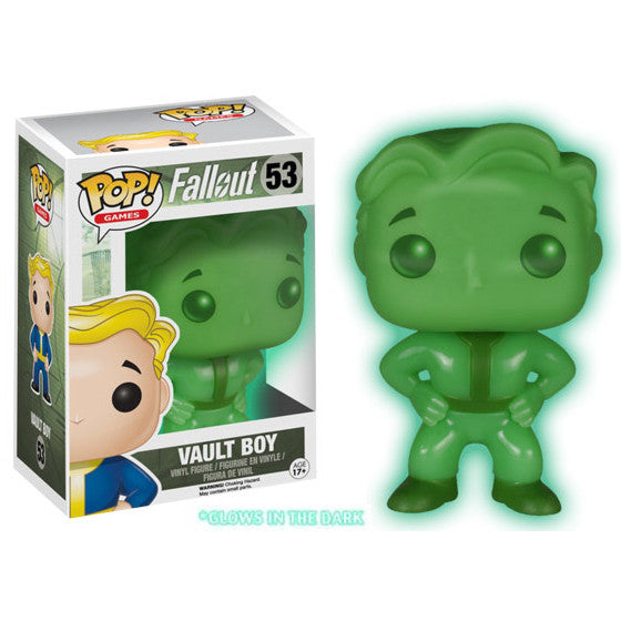 Fallout Pop! Vinyl Figure Glow in the Dark Vault Boy [Exclusive]