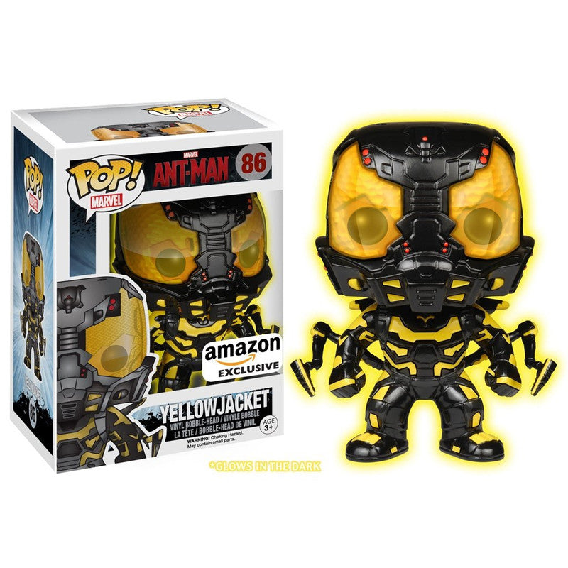 Marvel Ant-Man Pop! Vinyl Figure Glow-in-the-Dark Yellowjacket [Exclusive] - Fugitive Toys