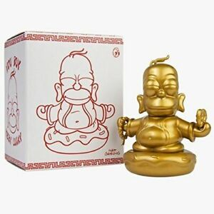 "Kidrobot x Simpsons Gold Homer Buddha 3"" Figure"