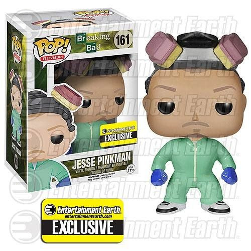 Breaking Bad Pop! Vinyl Figure Jesse Pinkman [Green Cook Outfit] Entertainment Earth Exclusive