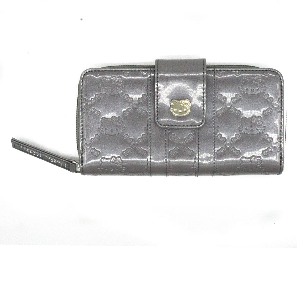 Loungefly x Hello Kitty Embossed Gray Pearl Long Wallet