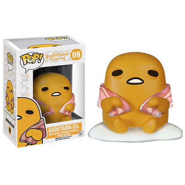 Sanrio Pop! Vinyl Figure Gudetama with Bacon [The Lazy Egg] - Fugitive Toys