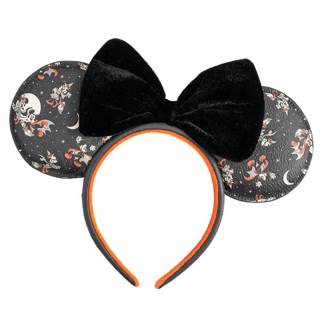 Loungefly x Disney Mickey Vampire and Witch Minnie Halloween Ears Headband