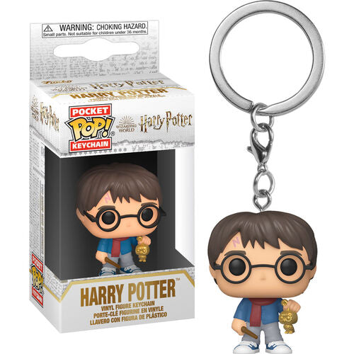 Harry Potter Pocket Pop! Keychain Holiday Harry Potter w/Golden Owl