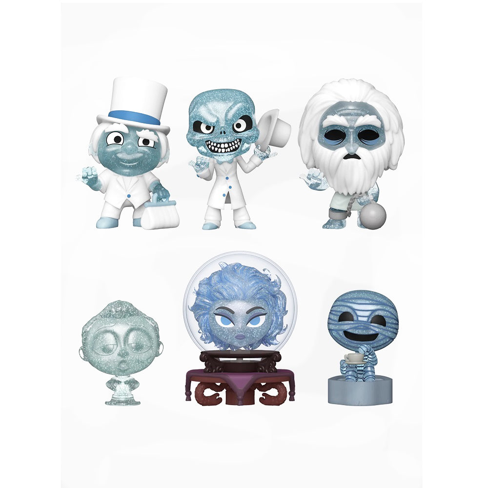 Disney The Haunted Mansion Mystery Minis Glitter Vinyl Figures (Complete Set of 6) - Fugitive Toys