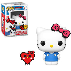 Sanrio Pop! Vinyl Figure Anniversary Hello Kitty (8-bit) (Heart) (Chase) [31] - Fugitive Toys