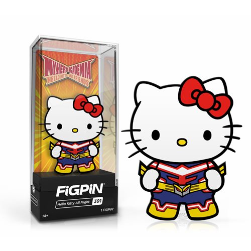 My Hero Academia x HK FiGPiN Enamel Pin: Hello Kitty All Might [391]