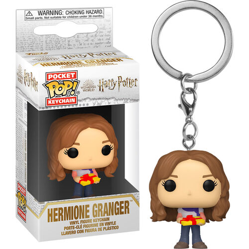 Harry Potter Pocket Pop! Keychain Holiday Hermione With Present