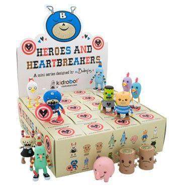 Kidrobot Heroes and Heartbreakers (Case of 20) - Fugitive Toys