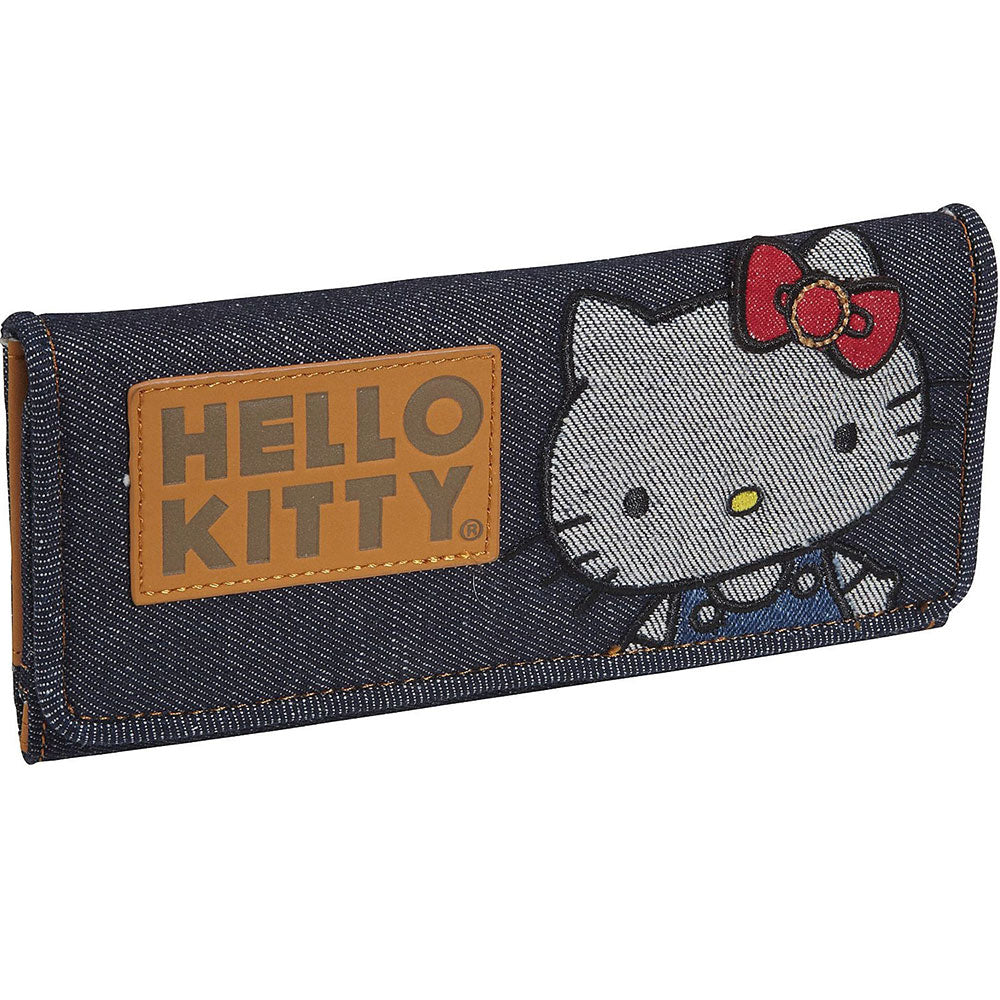 Loungefly x Hello Kitty Denim Tri-Fold Wallet