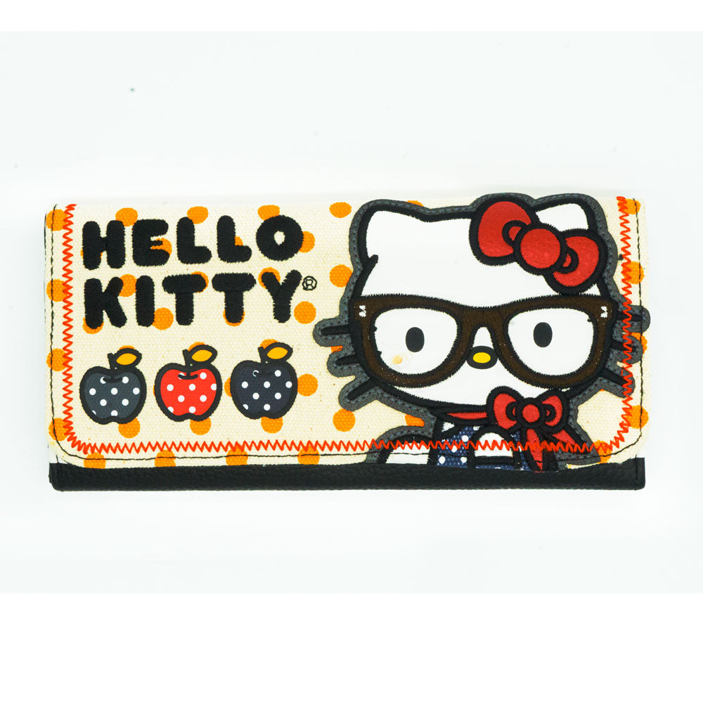 Loungefly x Hello Kitty Nerd with Apples Tri-Fold Wallet - Fugitive Toys