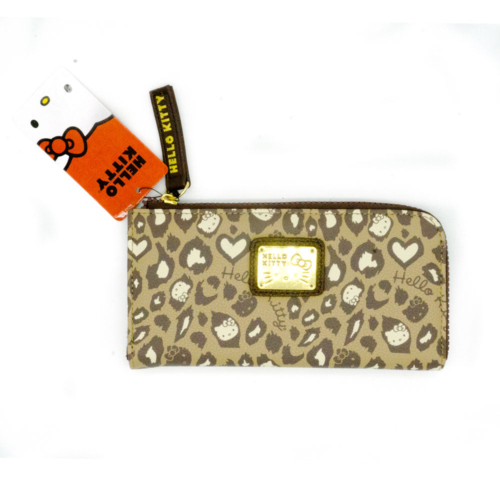 Loungefly x Hello Kitty Tan Leopard Print Zip Wallet