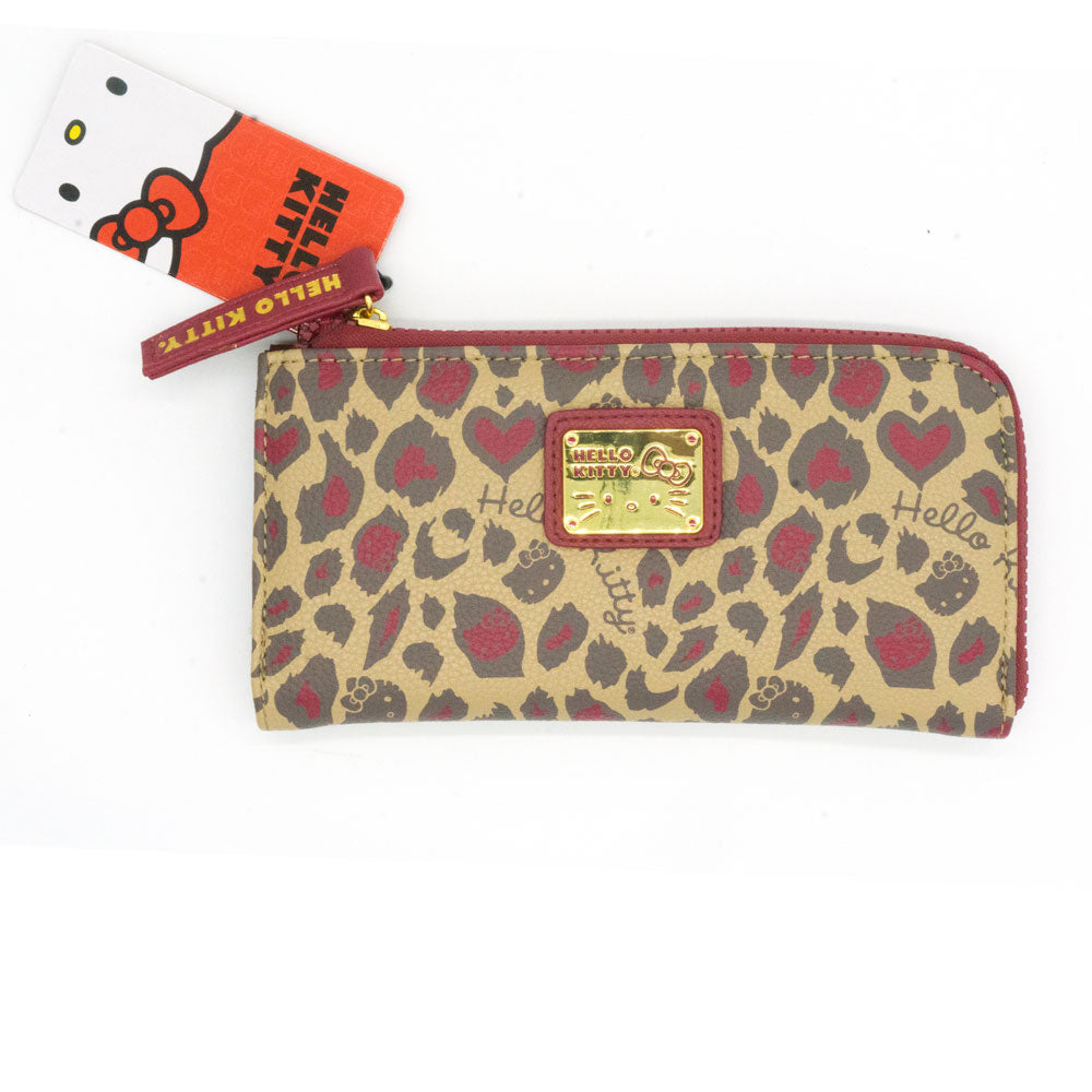 Loungefly x Hello Kitty Red Leopard Print Zip Wallet