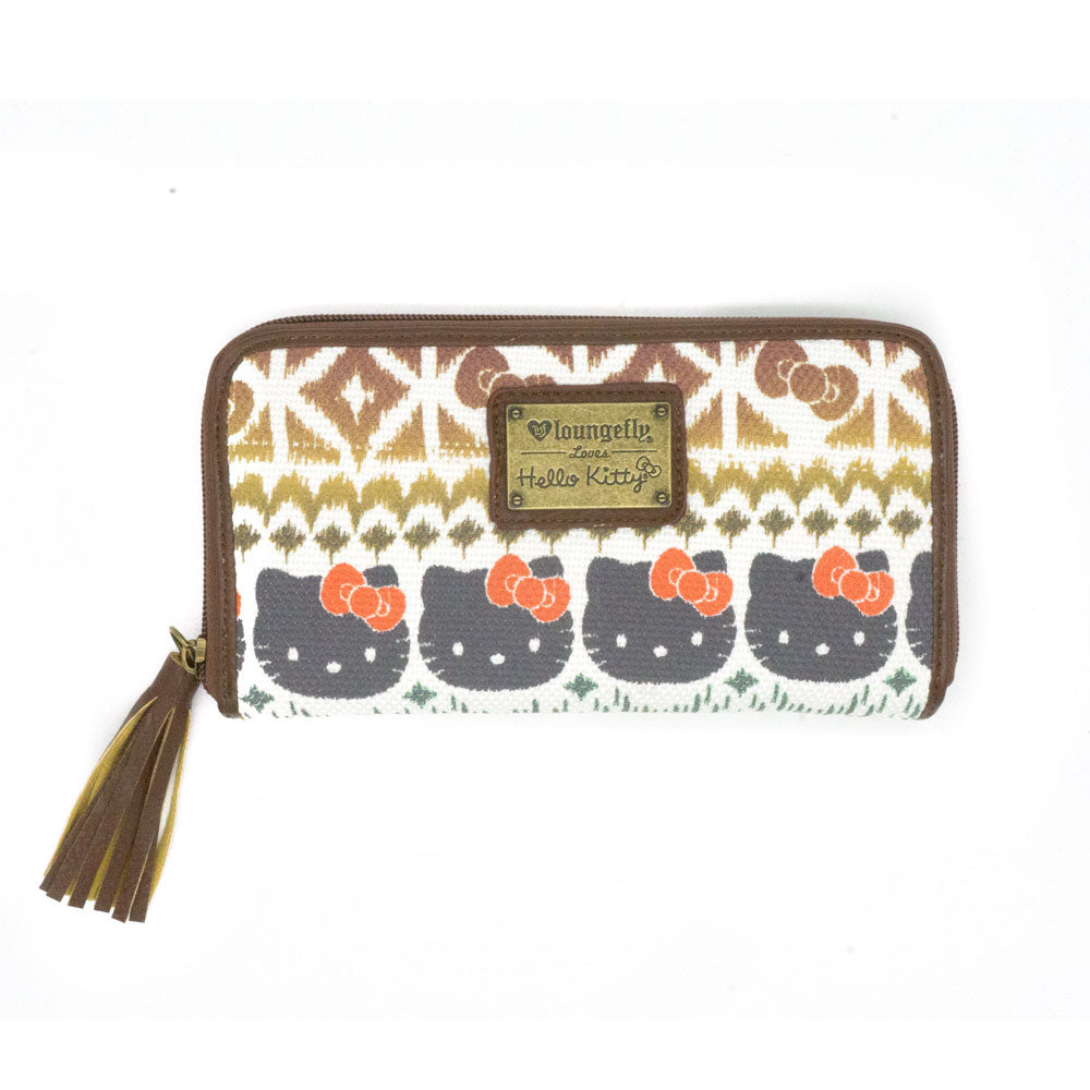 Loungefly x Hello Kitty Tribal Print Zip Wallet