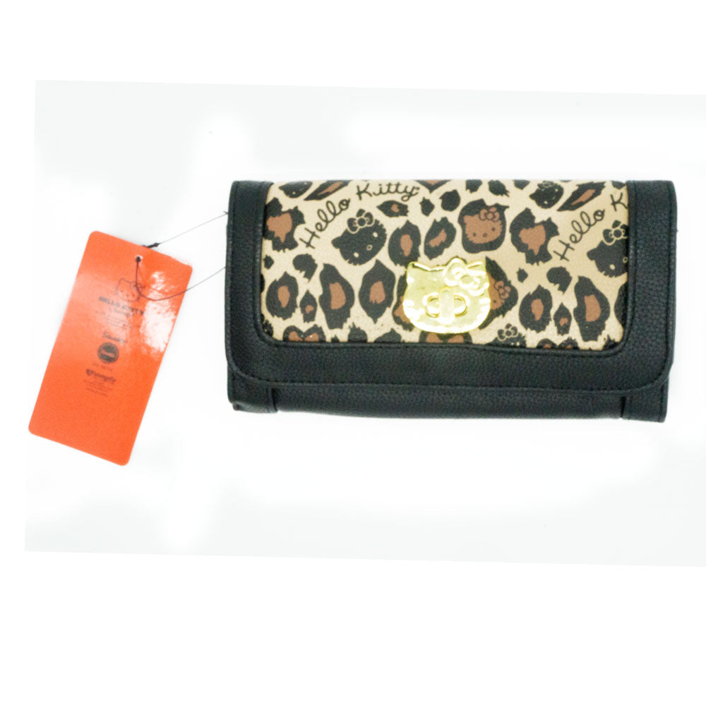 Loungefly x Hello Kitty Twist Lock Leopard Wallet