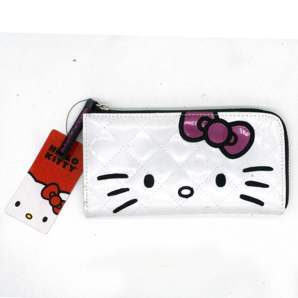 Loungefly x Hello Kitty White Patent Quilted Wallet - Fugitive Toys