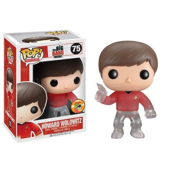 The Big Bang Theory Pop! Vinyl Figure Howard Wolowitz: Star Trek Red Shirt [SDCC 2013 Exclusive] [75] - Fugitive Toys