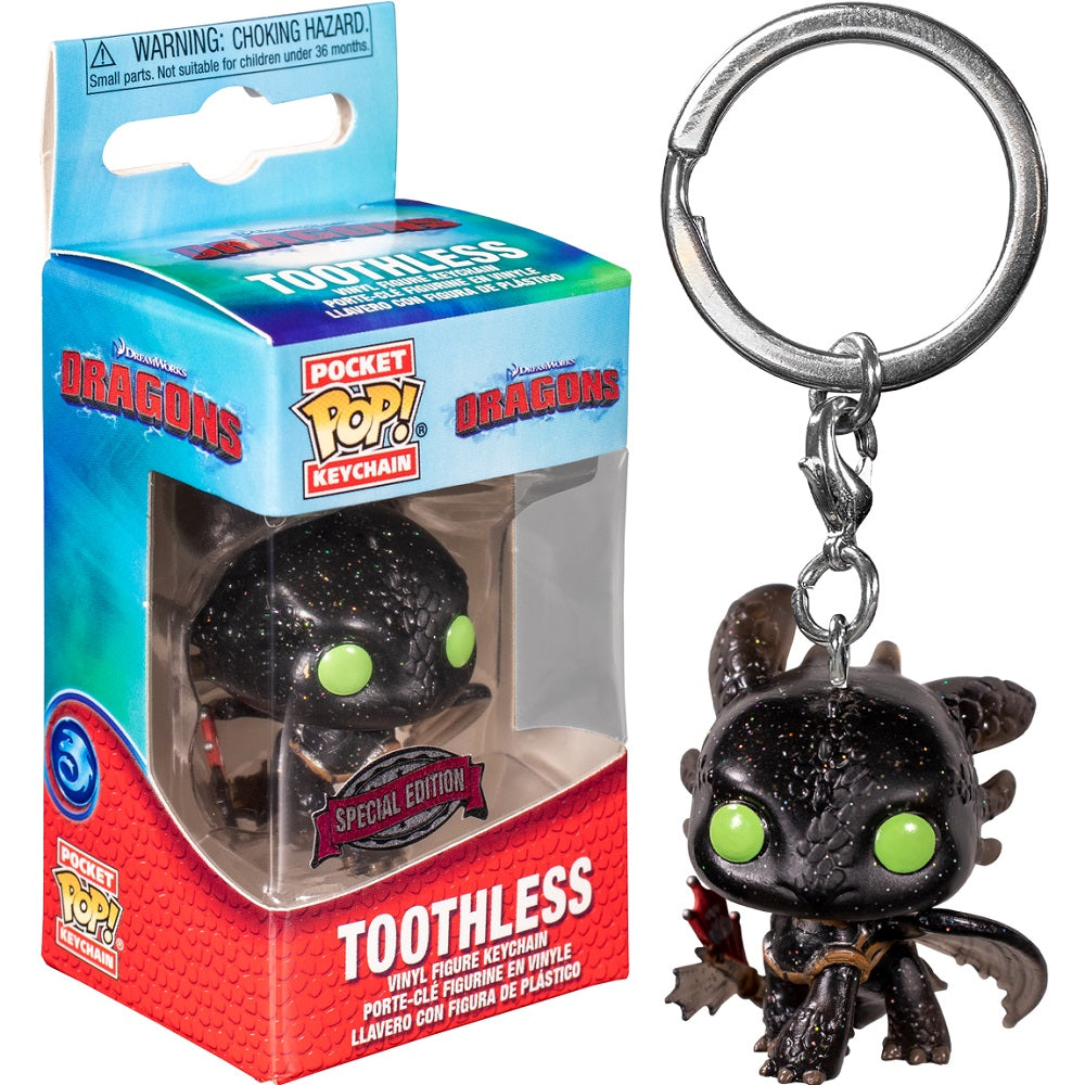 How to Train Your Dragon Pocket Pop! Keychain Toothless (Glitter)