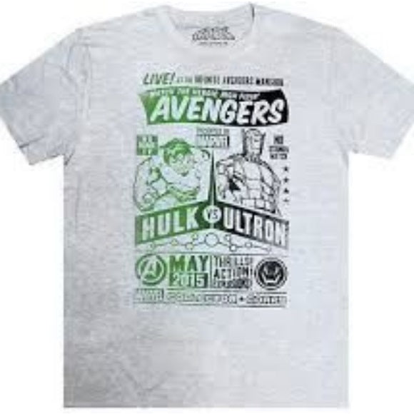 Marvel Pop! Tees Avengers Hulk vs. Ultron - XL
