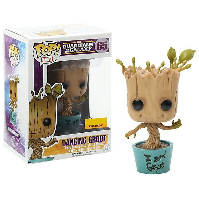 Marvel Guardians of the Galaxy Pop! Vinyl Bobblehead I Am Groot Dancing Groot [Exclusive]