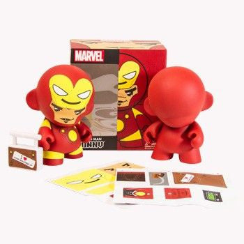 Marvel x Kidrobot Mini Munny 4-Inch: Iron Man - Fugitive Toys