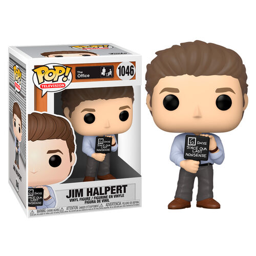 The Office Pop! Vinyl Figure Jim Halpert with Nonsense Sign [1046]