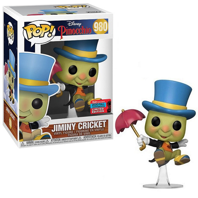 Disney Pinocchio Pop! Vinyl Figure Jiminy Cricket (2020 NYCC Shared) [980]