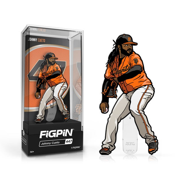 MLB San Francisco Giants FiGPiN Enamel Pin Johnny Cueto [447]
