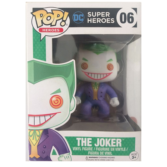 DC Super Heroes Pop! Vinyl Figure The Joker (Black and Green Box) [06] - Fugitive Toys