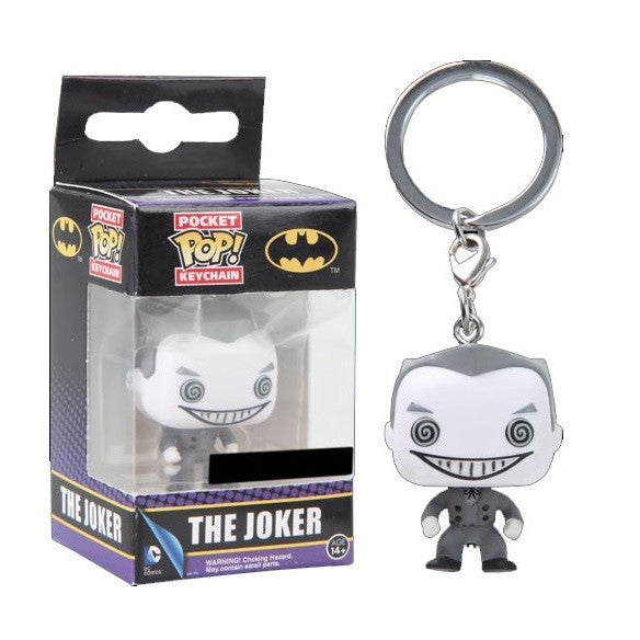 DC Universe Pocket Pop! Keychain Joker (B&W) [Exclusive]