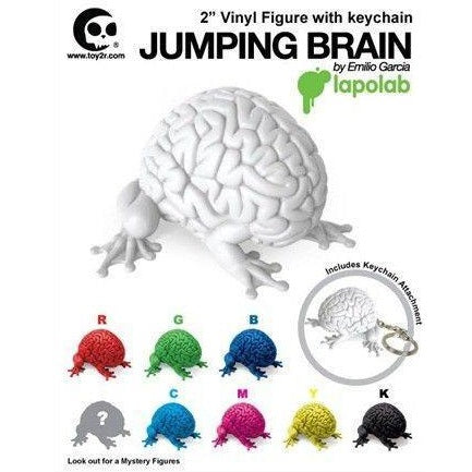 "Toy2R Jumping Brain 2"" Vinyl Figure w/ Keychain by Emilio Garcia (1 Blind Box)"