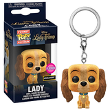 Lady & The Tramp Pocket Pop! Keychain Lady (Flocked) [Exclusive] - Fugitive Toys