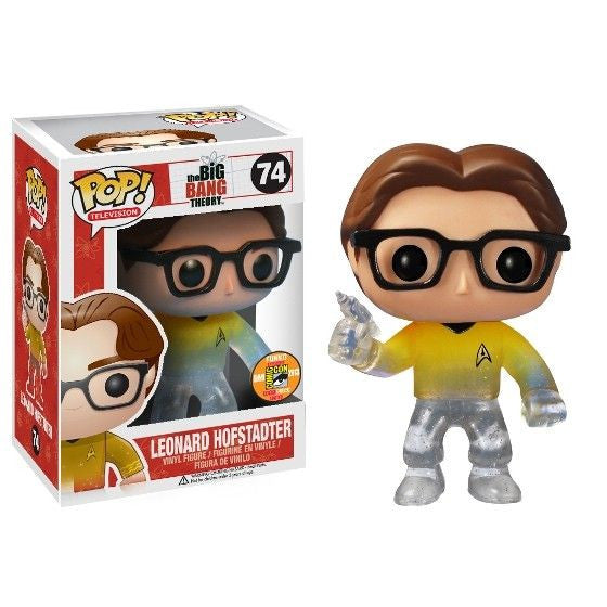 The Big Bang Theory Pop! Vinyl Figure Leonard Hofstadter: Star Trek Gold Shirt [SDCC 2013 Exclusive]