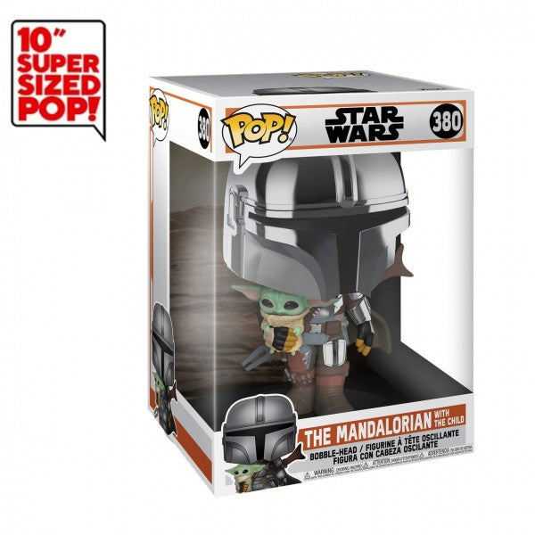 Disney Star Wars Pop! Vinyl Figure Mandalorian With The Child [10 inch] [380]