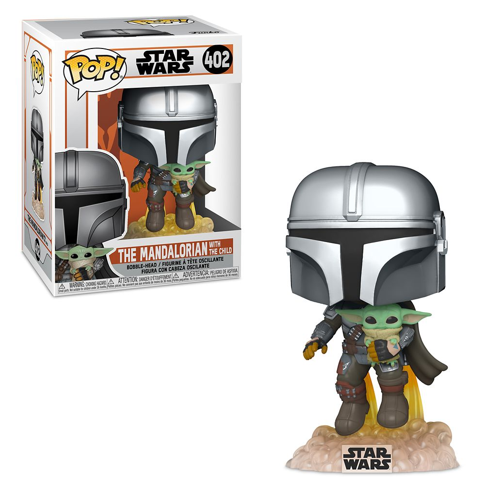 Star Wars The Mandalorian Pop! Vinyl Figure Mando Flying with The Child [402]