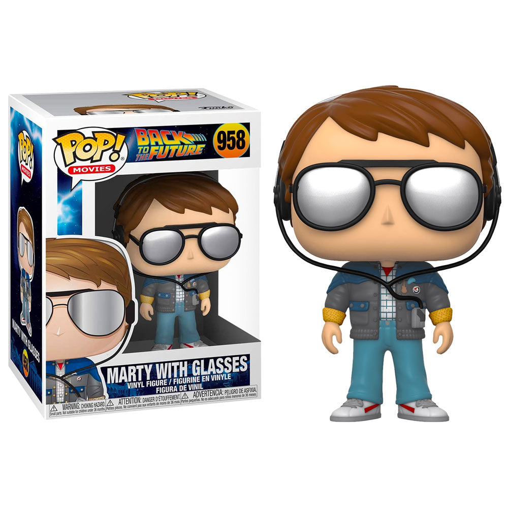 Back to the Future Pop! Vinyl Figure Marty McFly with Glasses [958]
