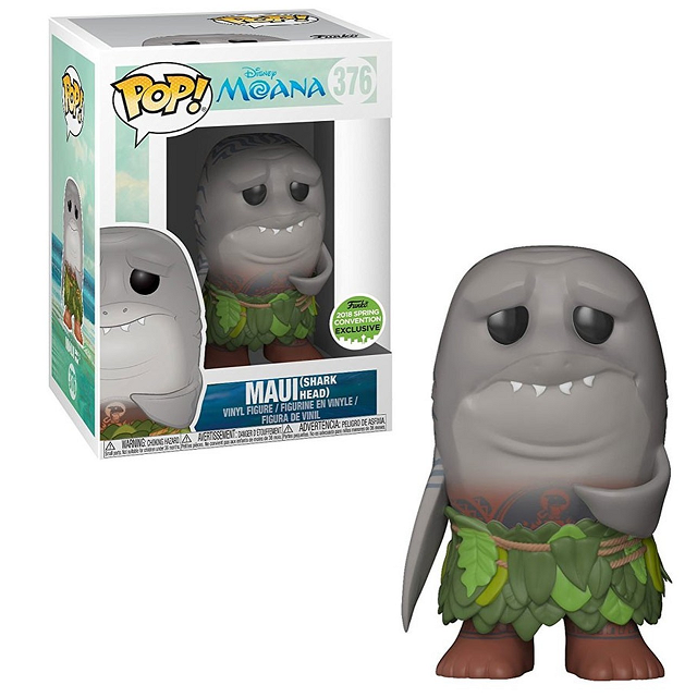 Disney Moana Pop! Vinyl Figures Shark Head Maui [Exclusive] [376] - Fugitive Toys