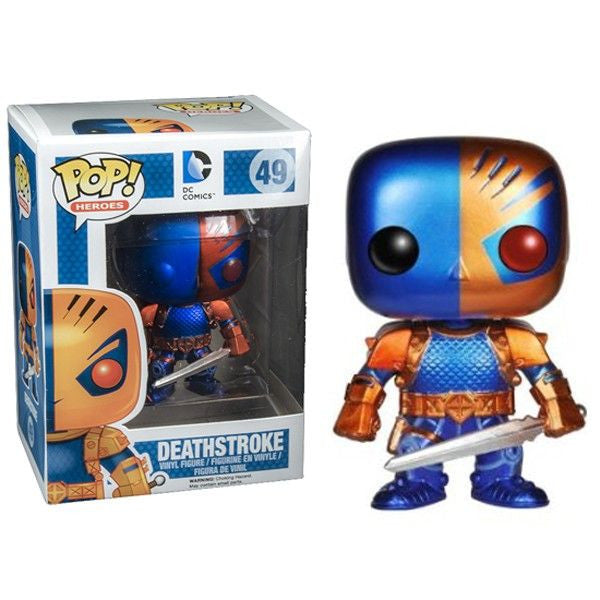 Dc Universe Pop Vinyl Figure Metallic Deathstroke