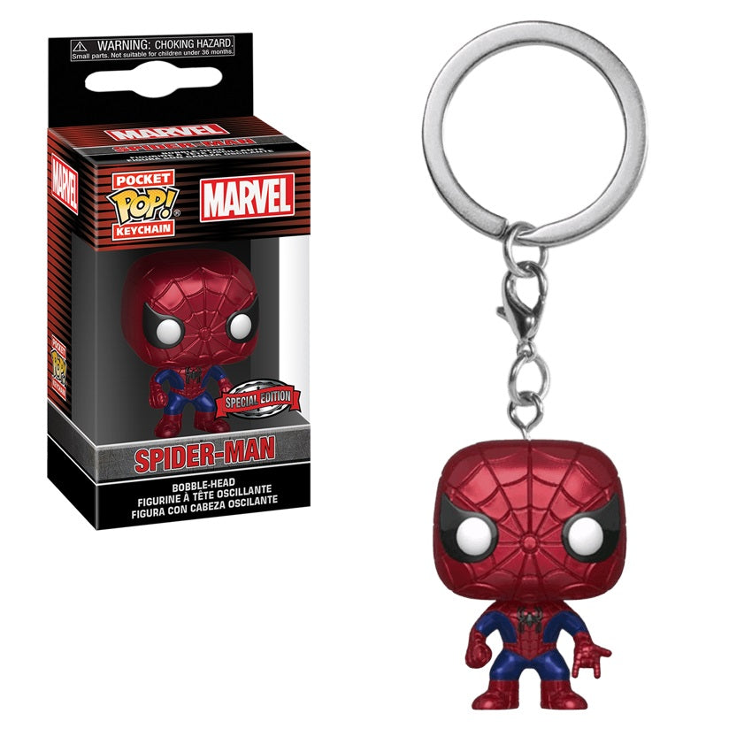 Marvel Pocket Pop! Keychain Spider-Man (Metallic)
