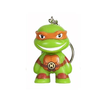 Kidrobot x Teenage Mutant Ninja Turtles Keychain Series - Michelangelo - Fugitive Toys