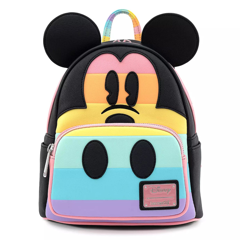 Loungefly x Disney Mickey Mouse Pastel Stripe Mini Backpack