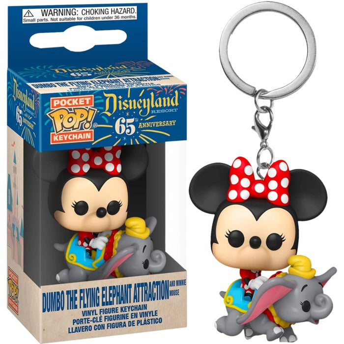 Disney 65th Anniversary Pocket Pop! Keychain Minnie Mouse on Dumbo