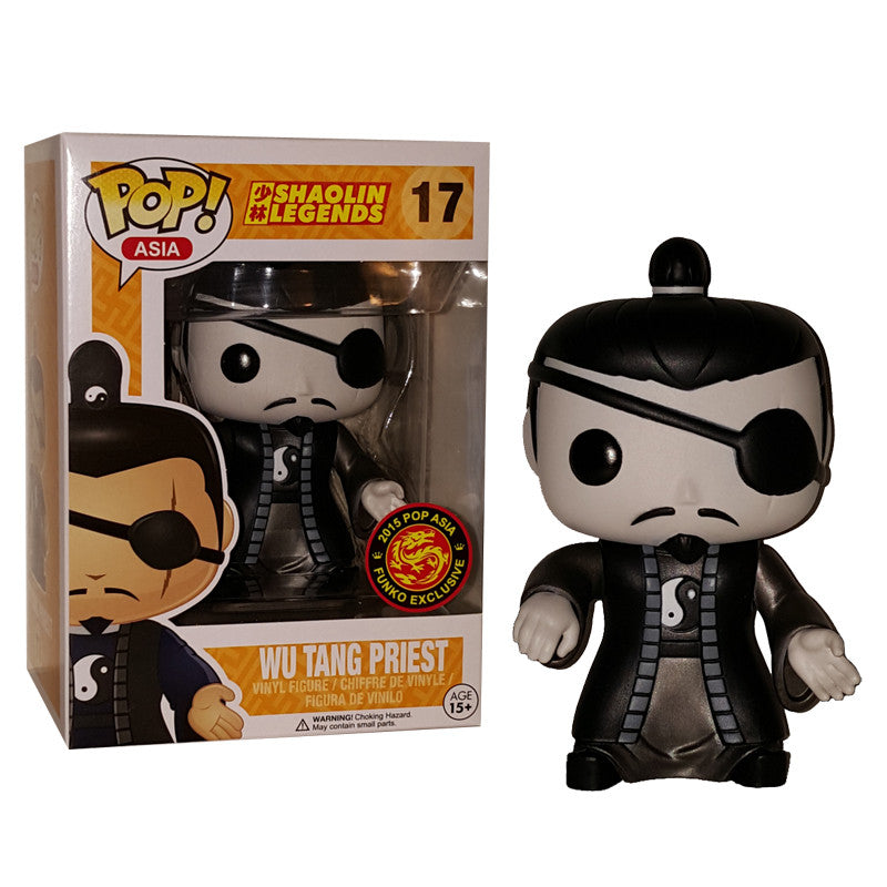 Asia Pop! Vinyl Figure Monochrome Wu Tang Priest [Shaolin Legends] Exclusive - Fugitive Toys