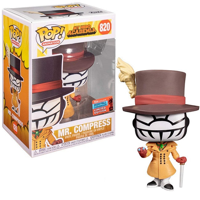 My Hero Academia Pop! Vinyl Figure Mr. Compress (2020 NYCC Shared) [820] - Fugitive Toys